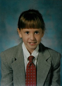 A Little Girl in a Suit